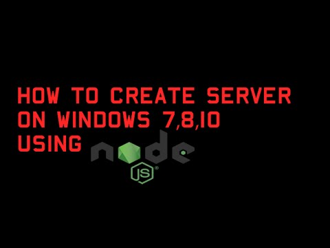 How to create a HTTP server in Windows PC using NodeJs ?