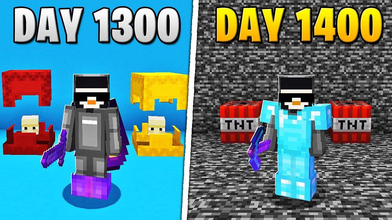 I Survived 1,400 Days in HARDCORE Minecraft...