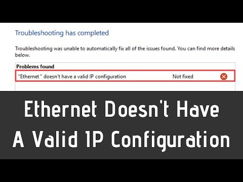 does not have a valid ip address windows 10
