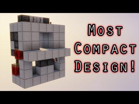 Super easy flush and seamless 2x2 piston door | Minecraft tutorial