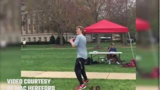 Alabama QB Mac Jones shows off his arm in SGA campaign video