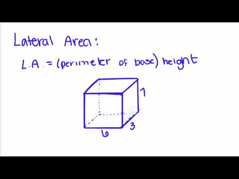 Geometry - 17 - Prisms - Volume, Lateral Area, and Total Area