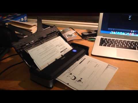 Scanning with the Canon p-215