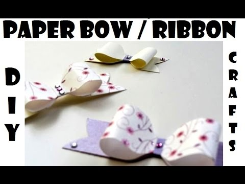How to make an Origami Bow - Tutorial - Ribbon tie for your Gift Box - DIY Paper Crafts by Giulia