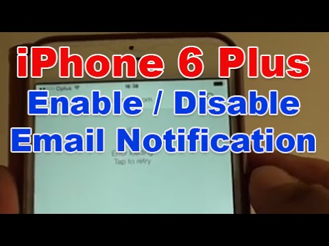iPhone 6 Plus: How to Enable / Disable Email Notification