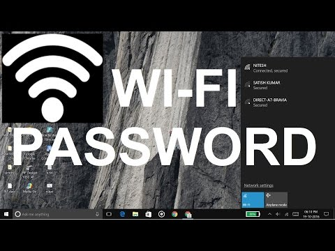 How to get wifi password using cmd | Windows 10