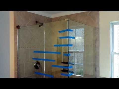 Install frameless glass doors for tile shower