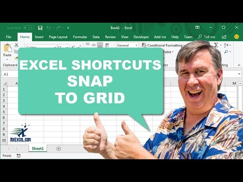 Excel Shortcut - Snap to Grid - Podcast 2140