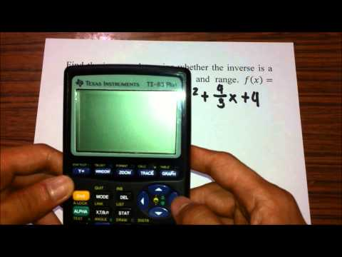 Finding inverse graph and its domain and range