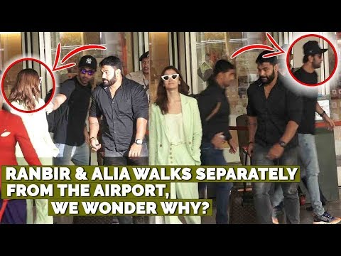 Xxx Mp4 Ranbir Kapoor And Alia Bhatt Walk Separately From The Airport We Wonder Why 3gp Sex