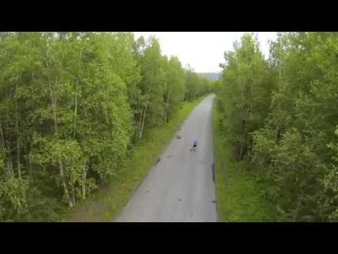Roller Skiing From Above