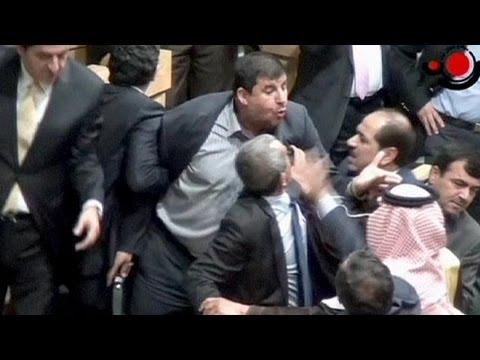 Mayhem as MP fires AK-47 at colleague in Jordan's parliament