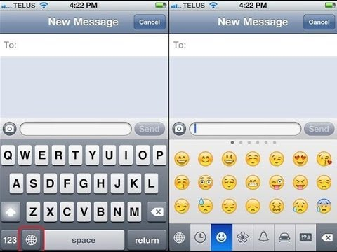 How to add emoticons, smileys in IPhone or IOS keyboard - HINDI - easy