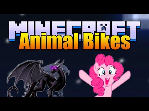 Minecraft ANIMAL BIKES Mod! Ride an Ender Dragon! (Minecraft v1.7.10 Mod Spotlight)