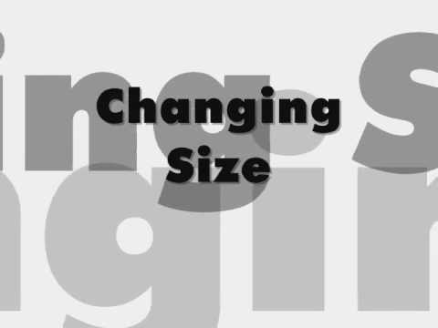 Changing Size, Font & Colour in Microsoft Word 2007