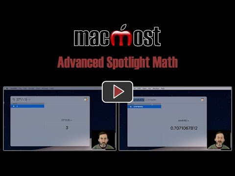 Advanced Spotlight Math (MacMost #1824)