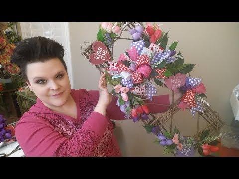 Valentines Rectangle Grapevine Wreath & Big Announcement