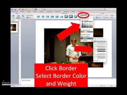 How to insert a picture border using PowerPoint