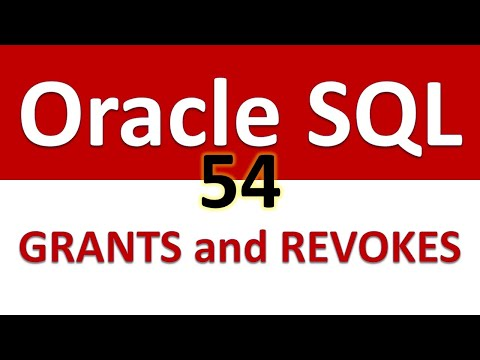 Oracle SQL Developer Tutorial For Beginners  54     DCL   GRANTS and REVOKES Full Demo