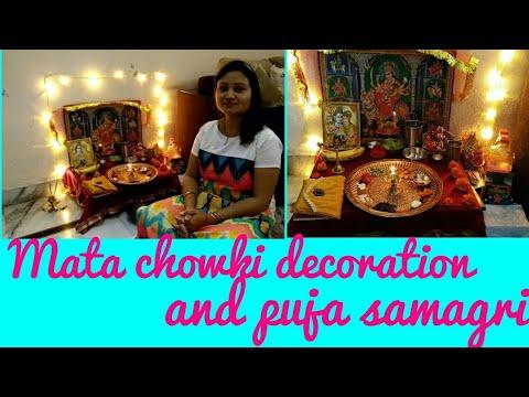 navratri2018,puja,decor,chowki,anvesha,s creativity
