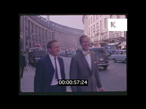 Early 1960s Piccadilly Circus, London HD from 35mm | Kinolibrary