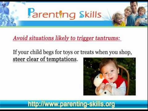 How to stop your 2 year old child's temper tantrums?