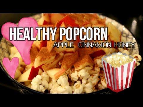 HEALTHY POPCORN RECIPE | Apple, Cinnamon & Honey