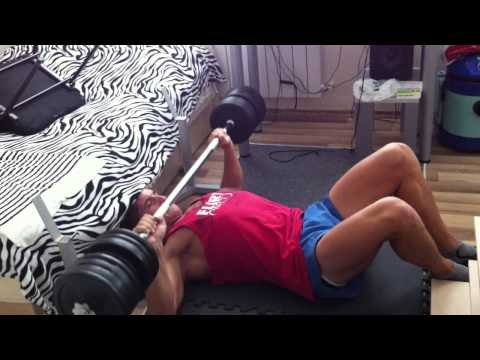 How to do bench press at home when you don't have enough room