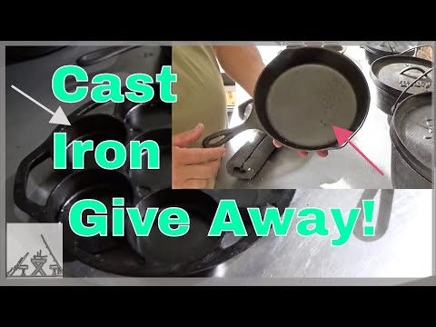 Cast Iron Give Away!  Seasoning and Cooking with Cast Iron for the First Time