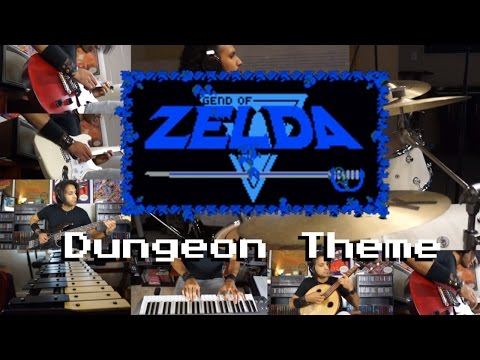 Legend of Zelda - Dungeon Theme Meets Serge (Guitar Bass Drums Piano and More)