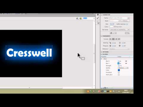 Masking and Text effects in Flash CS6
