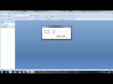 Ms Access Login Form Fast and Easy