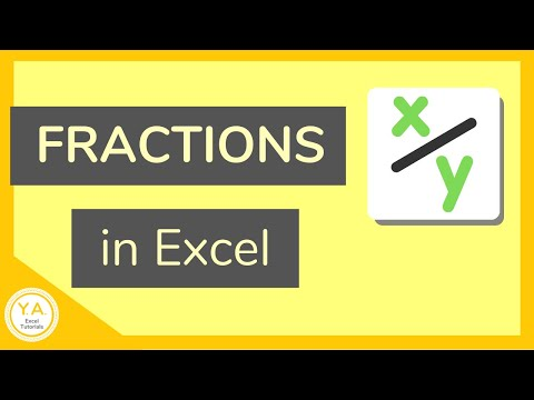 How to Use fractions in Excel - Tutorial