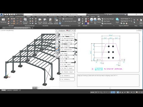 11 – Advance Steel 2019 – Structural Steel Fabrication