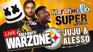 Marshmello's Super Saturday  w/ JuJu Smith Schuster + Alesso + Royalize | Call of Duty Warzone LIVE