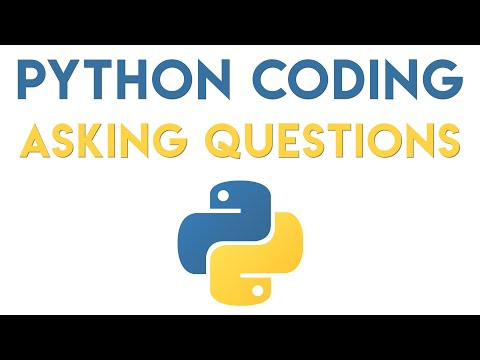 Python Coding - Asking User's Questions