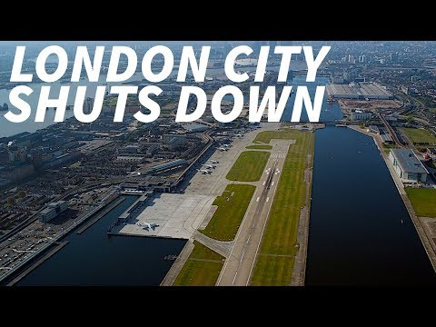 LONDON CITY AIRPORT closes due to WW2 BOMB