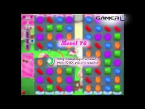 Candy Crush Saga - How to Pass Level 76 (with commentary)