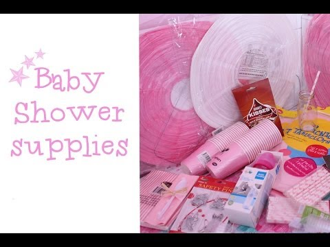Baby Shower Supplies | IVF baby { Pink & White baby shower }