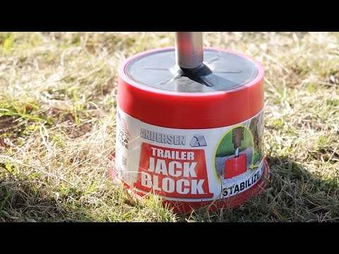 Trailer Jack Block – Elimating nearly ALL the movement in your parked RV or trailer!