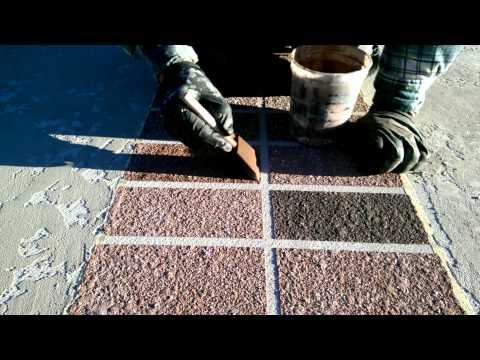 Decorative Concrete Tuscan Slate Brick Boarder Antique Taupe Patio Custom Concrete Lake Ozark