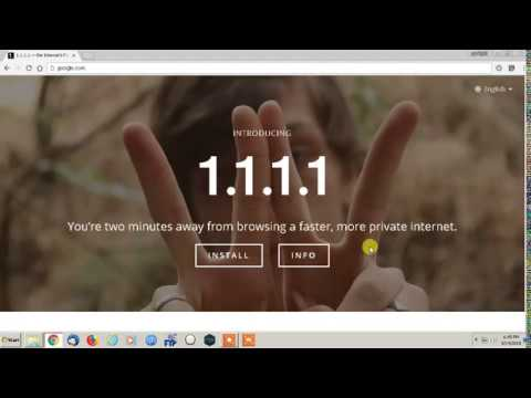 How to Speed up Your Internet Connection Using  1.1.1.1 - Fastest & Private DNS 2018