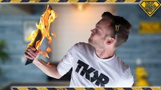 Can We Make Fire Burn Downwards?