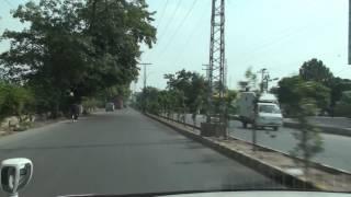 Driving in Garden Town, Lahore, Pakistan