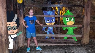 PJ MASKS Disney Romeo Steals the Golden Pineapple The Assistant Mine Hunt
