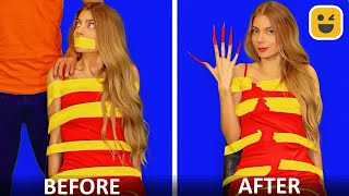 GIRLS PROBLEM WITH LONG NAILS & HAIR! Best DIY Life Hacks Ideas by Mr Degree