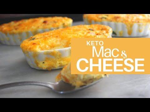 *KETO* Baked Mac & Cheese   Low Carb, High Fat   Cauliflower