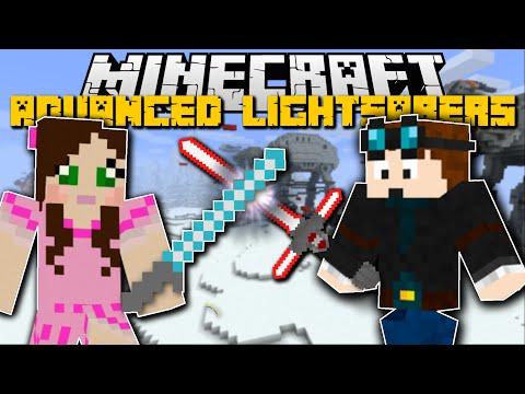 Minecraft STAR WARS ADVANCED LIGHTSABER MOD w/SSUNDEE, DANTDM, POPULARMMOS!!