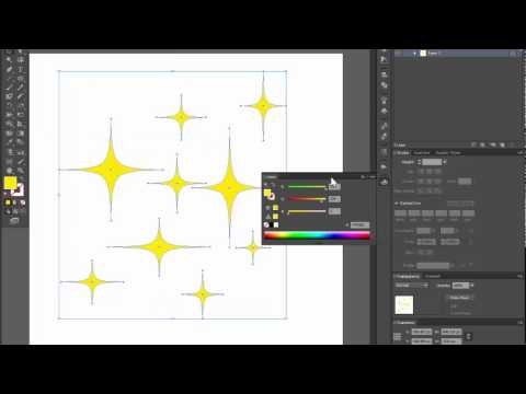 Stars shape - Adobe Illustrator cs6 tutorial. Super quick and easy way to make a simple vector star.
