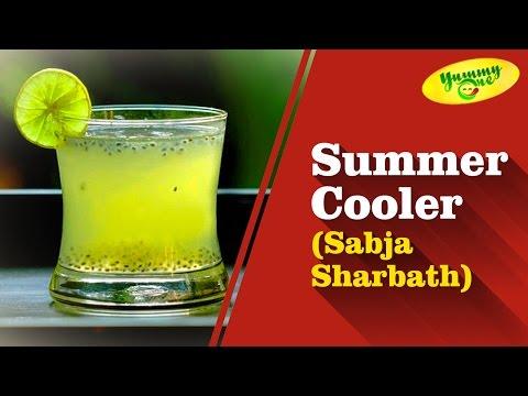 Summer Cooler (Sabja Sharbath) Drink Recipe - YummyOne